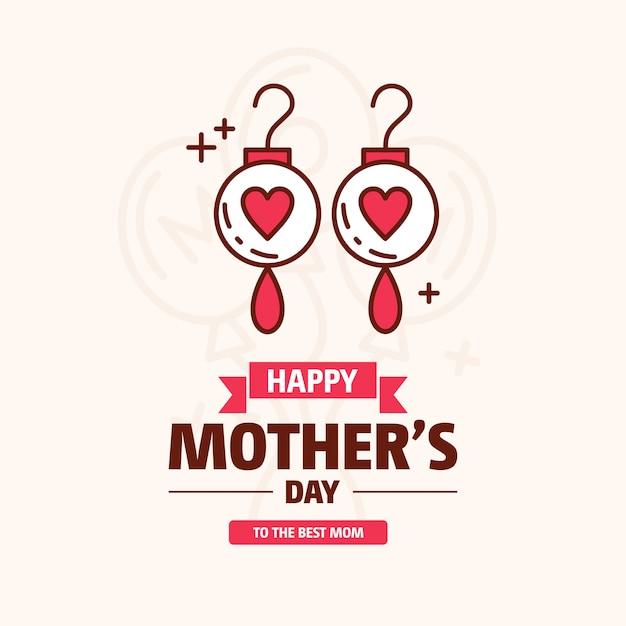 Fond de la fête des mères heureux Vecteur gratuit