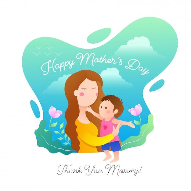 Fond de fête des mères. Vecteur Premium