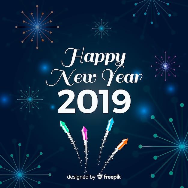 Fond De Fête De Nouvel An élégant Vecteur gratuit