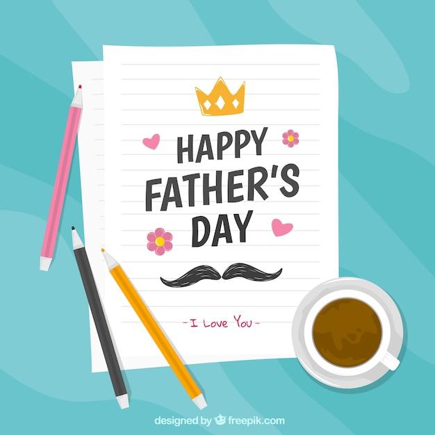Fond De Fête Des Pères Avec Une Lettre Pour Papa