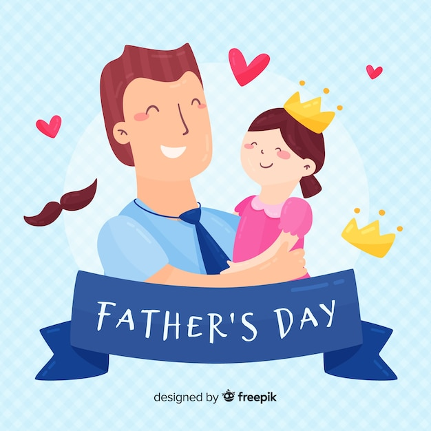 Fond de fête des pères Vecteur gratuit
