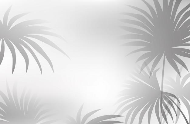 Un fond de feuille blanche noire Vecteur gratuit