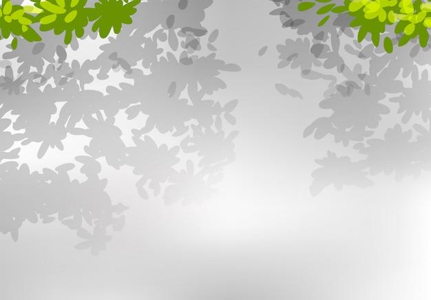 Un fond de feuille de nature Vecteur gratuit
