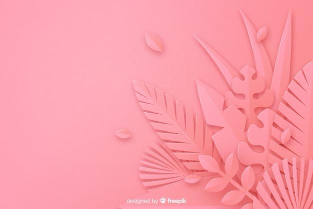 Fond De Feuilles Roses Monochromes Vecteur gratuit