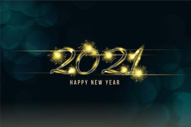 Fond De Feux D'artifice Nouvel An 2021 Vecteur gratuit