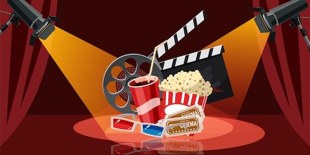 Fond de film de cinéma Vecteur Premium
