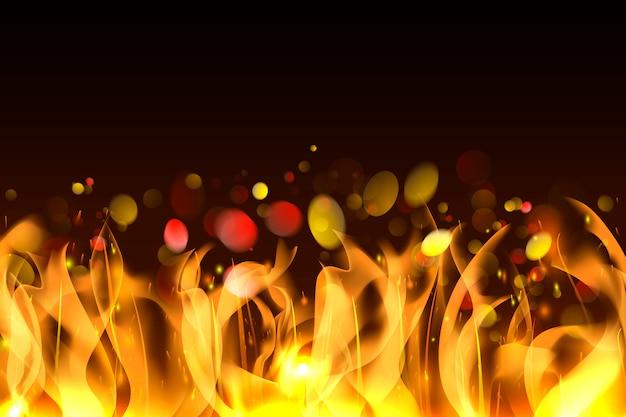 Fond de flammes brûlantes Vecteur gratuit