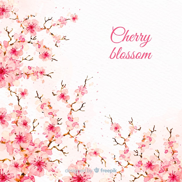 Fond de fleur de cerisier Vecteur gratuit