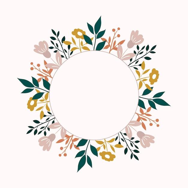 Fond De Fleur De Vecteur. Cadre Floral Vecteur Premium