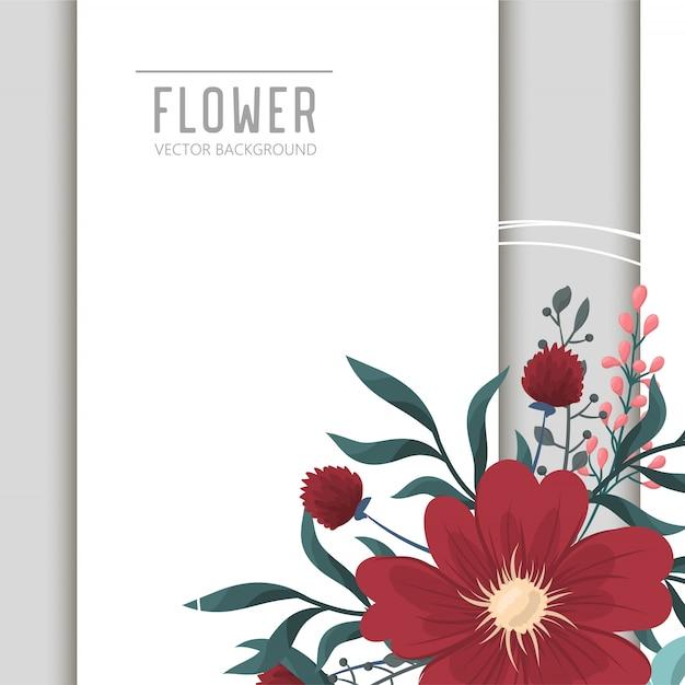 Fond de fleur Vecteur gratuit