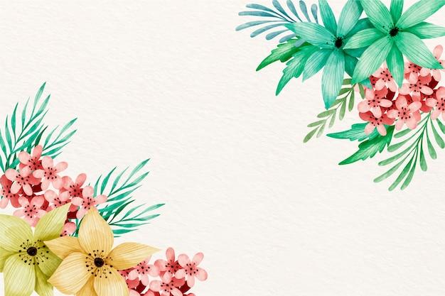 Fond De Fleurs Aquarelle Aux Couleurs Pastel Vecteur gratuit
