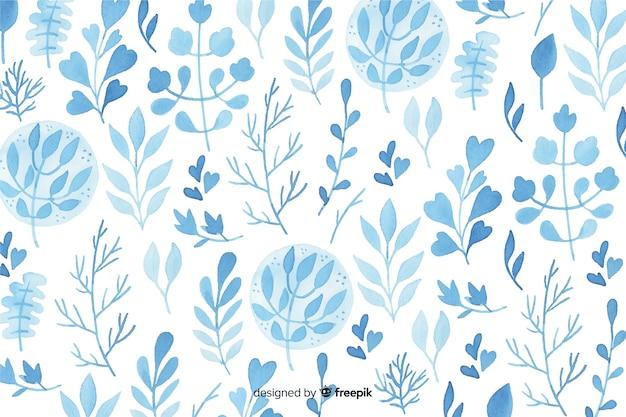 Fond de fleurs aquarelle monochromatique Vecteur gratuit
