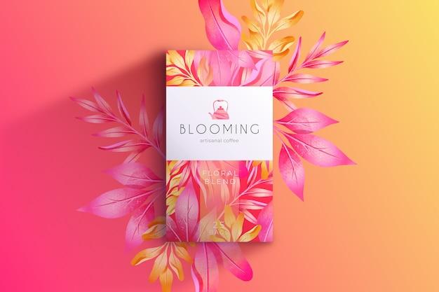 Fond de fleurs aquarelle rose Vecteur gratuit