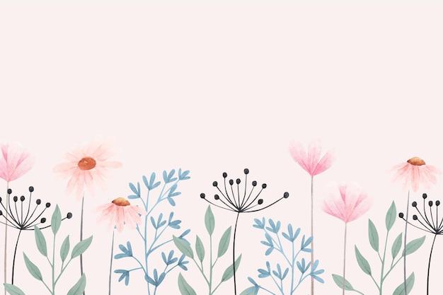 Fond De Fleurs Colorées Vecteur gratuit