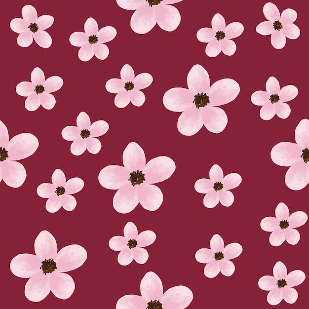 Fond de fleurs de couleur pastel rose transparente motif
