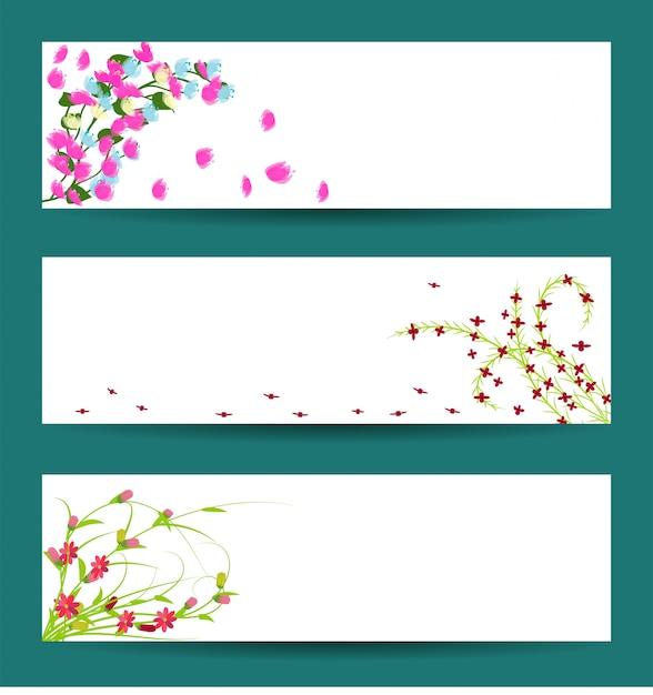 Fond de fleurs de printemps Vecteur Premium