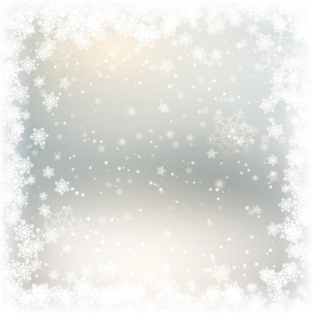 Fond de flocon de neige de noël Vecteur gratuit