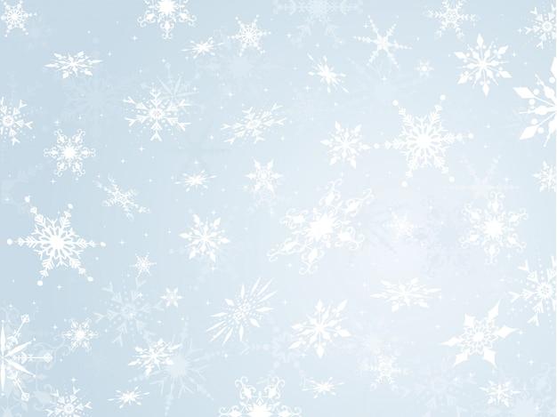 Fond flocon de neige Vecteur gratuit
