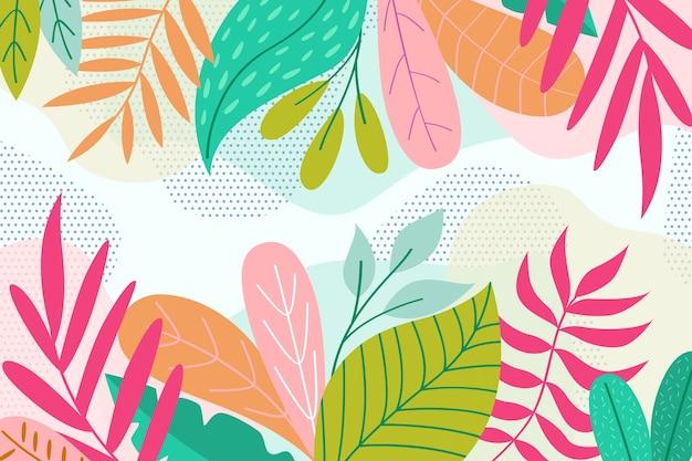 Fond Floral Abstrait Design Plat Vecteur gratuit