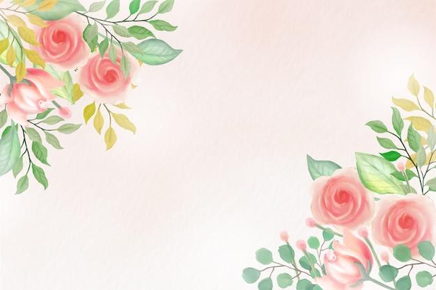Fond Floral Aquarelle Avec Des Couleurs Douces Vecteur gratuit