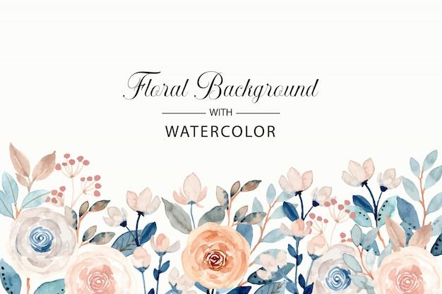 Fond Floral Aquarelle Doux Vecteur Premium