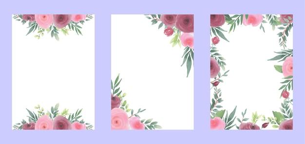 Fond Floral Aquarelle Pour Cartes Vecteur Premium