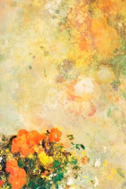 Fond floral classique Vecteur gratuit