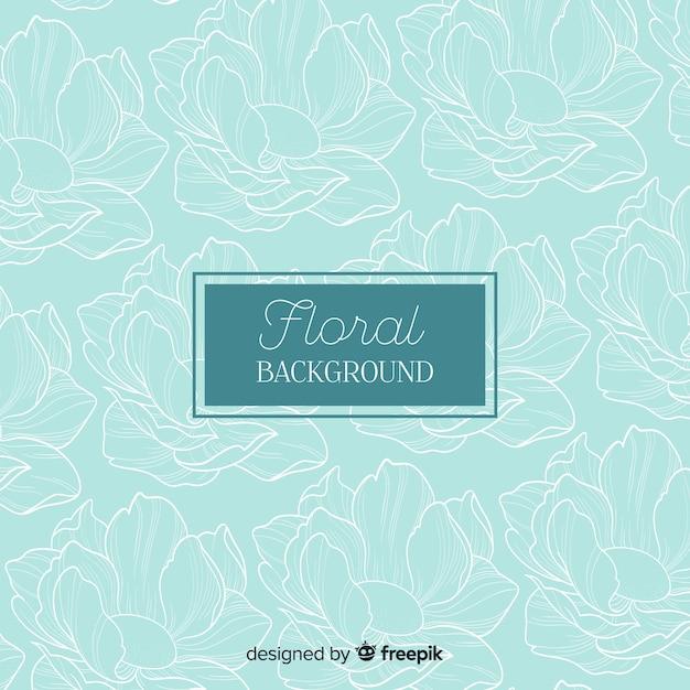 Fond floral dessiné à la main Vecteur gratuit