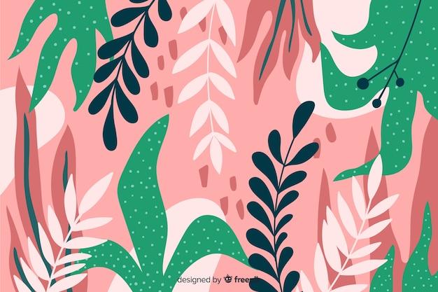 Fond floral élégant dessinés à la main Vecteur gratuit