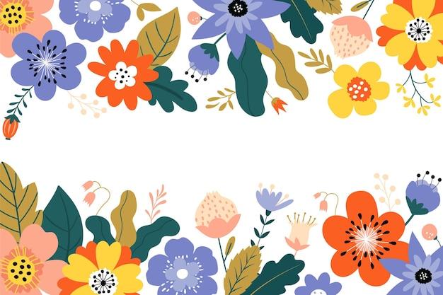 Fond Floral Avec Un Espace Vide Vecteur Premium