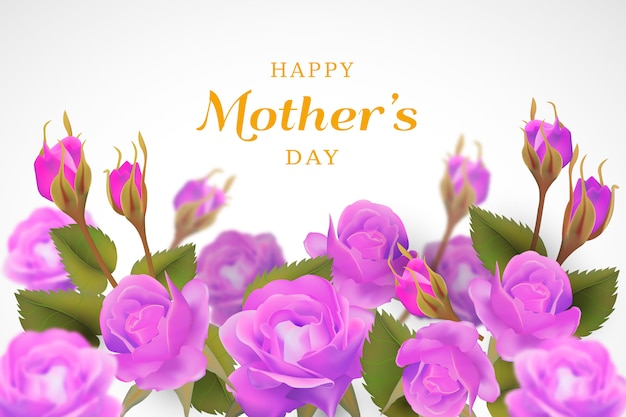 Fond floral de fête des mères Vecteur gratuit