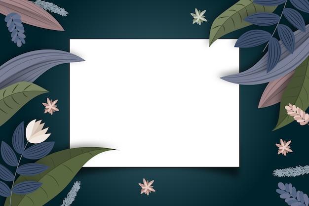 Fond floral hiver avec badge espace copie Vecteur gratuit