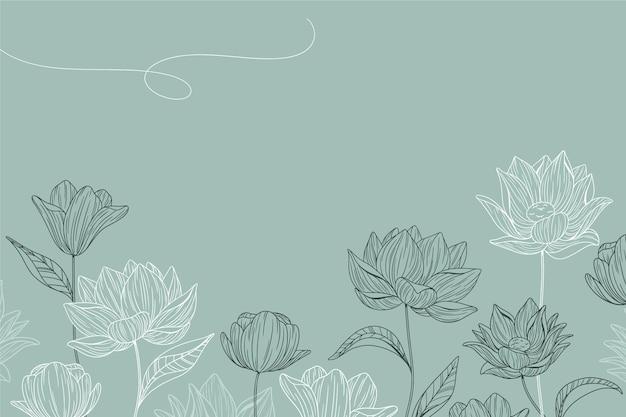 Fond Floral Simple Vecteur gratuit