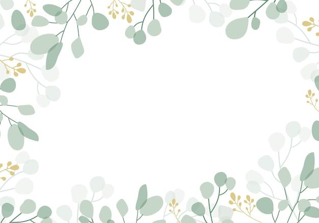 Fond floral vert Vecteur gratuit