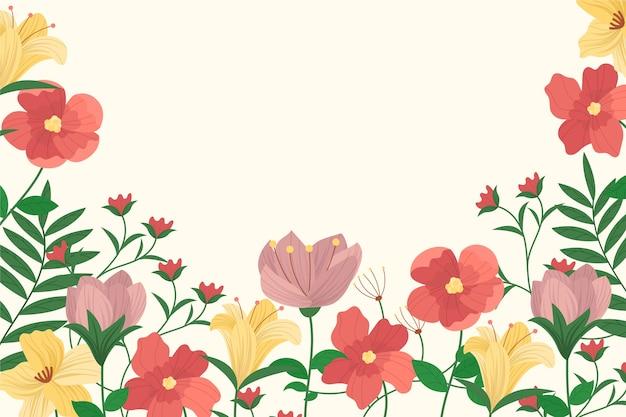 Fond Floral Vintage 2d Vecteur gratuit