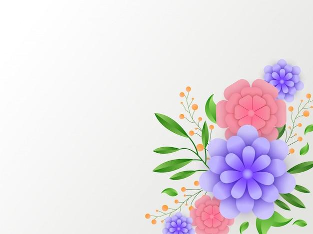 Fond Floral. Vecteur Premium