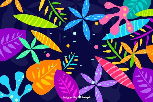 Fond floral Vecteur gratuit
