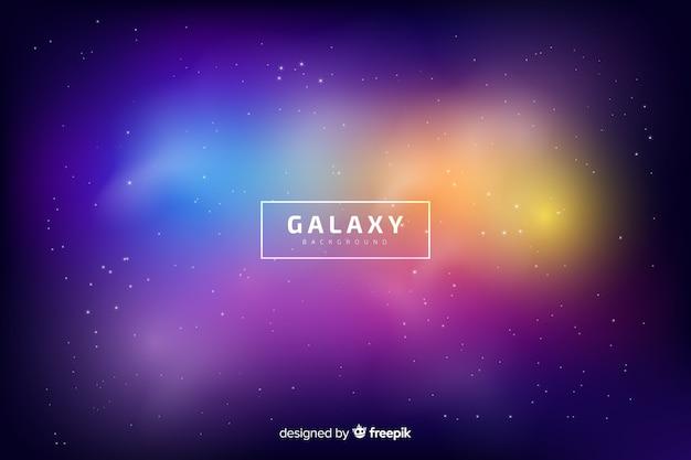 Fond flou de la galaxie Vecteur gratuit