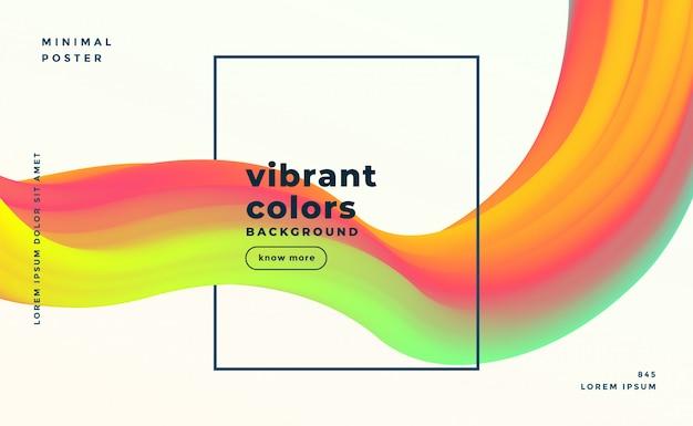 Fond fluide coloré abstrait liquide moderne formes Vecteur gratuit