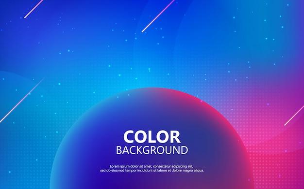 Fond fluide coloré. composition de forme de gradient futuriste. Vecteur Premium