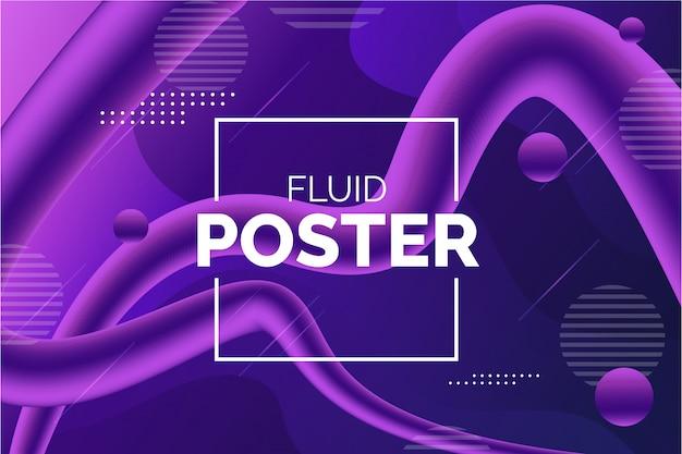 Fond fluide coloré moderne Vecteur gratuit