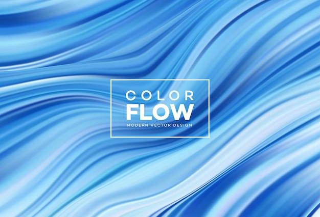 Fond De Flux Coloré Moderne. Vecteur Premium