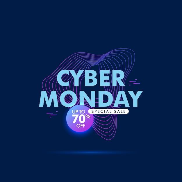 Fond de forme abstraite cyber lundi vente Vecteur Premium