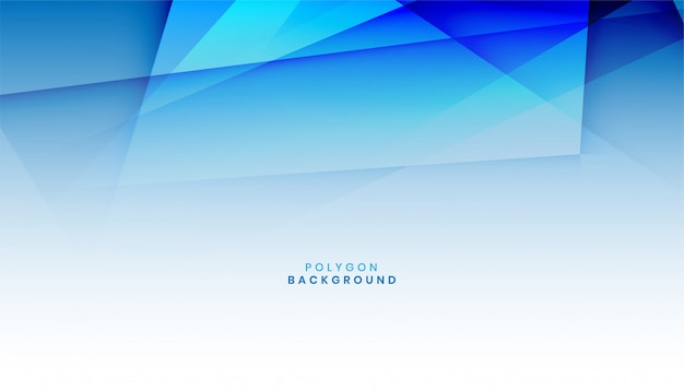 Fond De Forme Abstraite Polygone Bleu Vecteur Premium