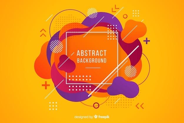 Fond de forme arrondie abstraite Vecteur gratuit