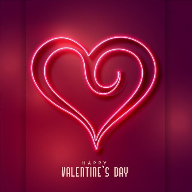 Fond de forme de coeur néon créatif Vecteur gratuit