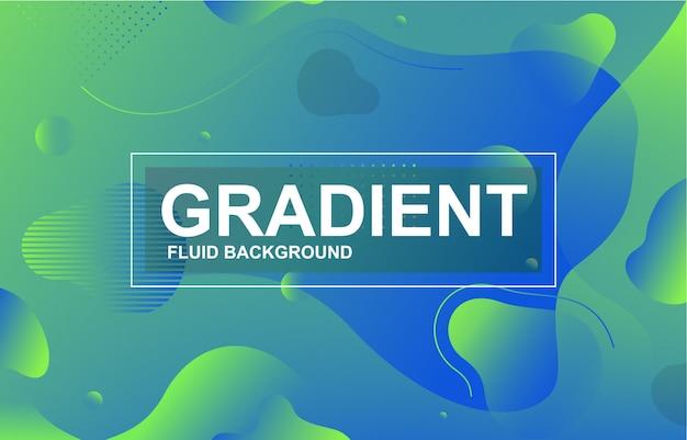 Fond de forme dynamique liquide fluide dégradé coloré Vecteur Premium