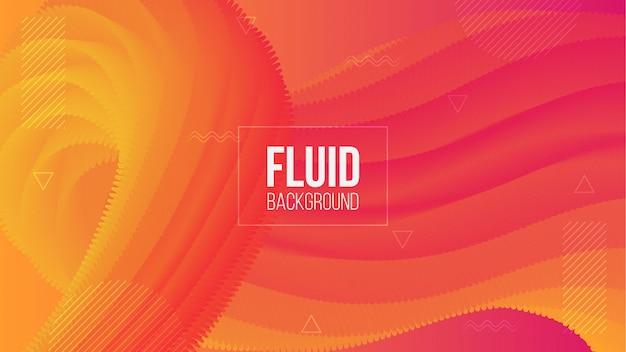 Fond De Forme Fluide Abstrait 3d Gradient Moderne Vecteur Premium