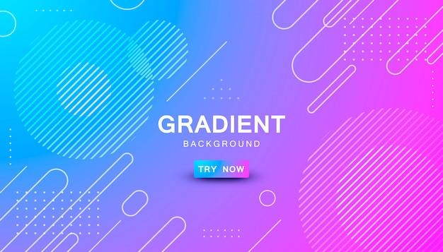 Fond de forme géométrique dégradé bleu et rose Vecteur Premium