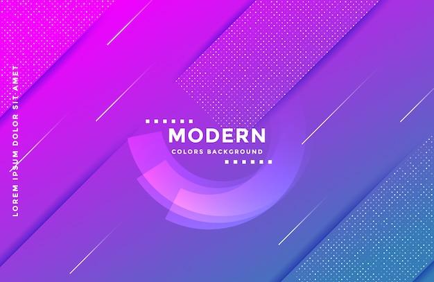 Fond de forme géométrique dégradé avec des couleurs vives Vecteur Premium